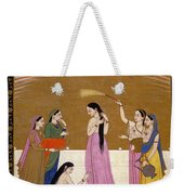 Preparation For The Meet With Lover. Weekender Tote Bag