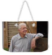 President Carter At His Boyhood Farm Weekender Tote Bag