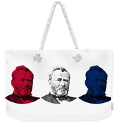 President Grant Red White And Blue Weekender Tote Bag