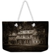 President James Buchanan's Wheatland In Sepia Weekender Tote Bag