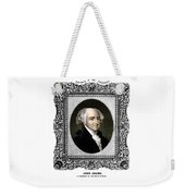 President John Adams Portrait  Weekender Tote Bag by War Is Hell Store
