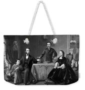 President Lincoln And His Family  Weekender Tote Bag by War Is Hell Store