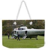 President Obama Walking Toward Marine One Weekender Tote Bag