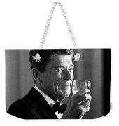 President Reagan Making A Toast Weekender Tote Bag