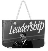 President Ronald Reagan Leadership Photo Weekender Tote Bag