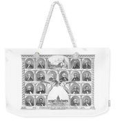 Presidents Of The United States 1776-1876 Weekender Tote Bag