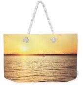 Presque Isle Sunset Weekender Tote Bag