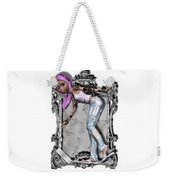 Pretty 3d Girl Sneaks Out Of Frame Weekender Tote Bag