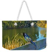 Pretty Bird At A Sunrise Weekender Tote Bag