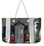 Pretty Christmas Decoration In Key West Weekender Tote Bag