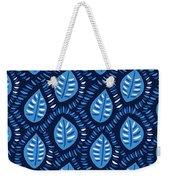Pretty Decorative Blue Leaves Pattern Weekender Tote Bag
