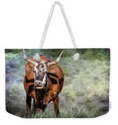 Pretty Female Cow With Horns Weekender Tote Bag