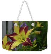 Pretty Flowering Lily In A Garden  Weekender Tote Bag