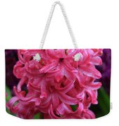 Pretty Hot Pink Hyacinth Flower Blossom Blooming Weekender Tote Bag