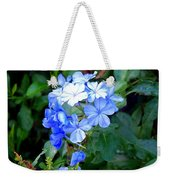 Pretty In Blue Photograph Weekender Tote Bag