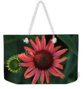 Pretty In Coral Weekender Tote Bag