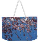 Pretty In Pink - A Flowering Cherry Tree And Blue Spring Sky Weekender Tote Bag