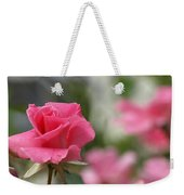 Pretty In Pink Rose Weekender Tote Bag
