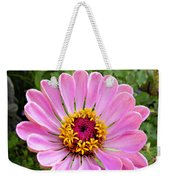Pretty In Pink Zinnia Weekender Tote Bag