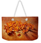 Pretty Little Orange Flowers - Kankaambaram Weekender Tote Bag