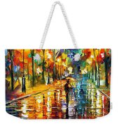 Pretty Night - Palette Knife Oil Painting On Canvas By Leonid Afremov Weekender Tote Bag
