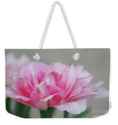 Pretty Pale Pink Parrot Tulip Flower Blossom Weekender Tote Bag