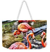 Pretty Pink Flamingos Weekender Tote Bag