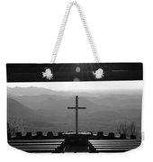 Pretty Place Aka Fred W. Symmes Chapel Black And White Weekender Tote Bag