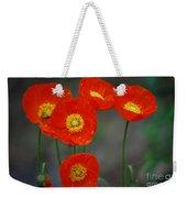Pretty Poppy Weekender Tote Bag