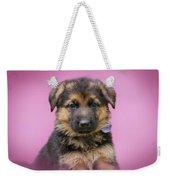 Pretty Puppy In Pink Weekender Tote Bag