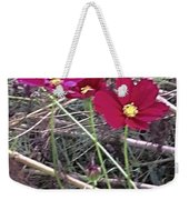 Pretty Red And Yellow Flowers In The Twigs Weekender Tote Bag