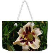 Pretty Single Blooming Daylily In A Garden Weekender Tote Bag