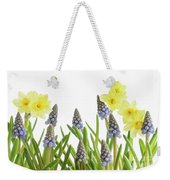 Pretty Spring Flowers All In A Row Weekender Tote Bag