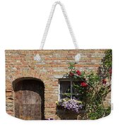 Pretty Terrace Beside The Groenerei Canal In Bruges Belgium Weekender Tote Bag