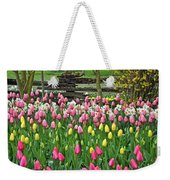 Pretty Tulips Garden Weekender Tote Bag