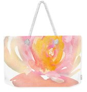 Pretty Watercolor Flower Weekender Tote Bag