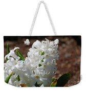 Pretty White Hyacinth Flower Blossom Flowering Weekender Tote Bag