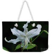 Pretty White Stargazer Lily Flower Blossom Weekender Tote Bag