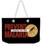 Prevent Malaria - Shorten The War  Weekender Tote Bag