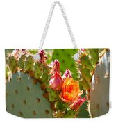 Prickly Pear Blooms Weekender Tote Bag