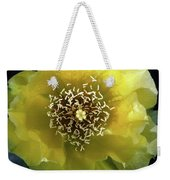 Prickly Pear Cactus Flower Weekender Tote Bag