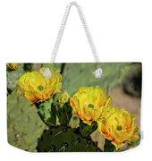 Prickly Pear Flowers H42 Weekender Tote Bag