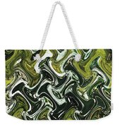 Prickly Pear With Green Fruit Abstract Weekender Tote Bag