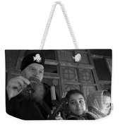 Priest And A Young Girl  Weekender Tote Bag