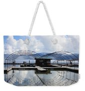 Priest Lake Boat Dock Reflection Weekender Tote Bag