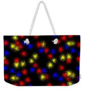 Primary Bursts Under Glass Weekender Tote Bag