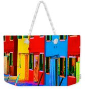 Primary Colors Of Burano Weekender Tote Bag