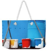 Primary Colors - Paint Buckets On A Ship Weekender Tote Bag