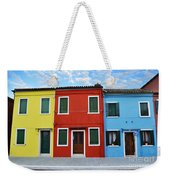 Primary Colors Too Burano Italy Weekender Tote Bag