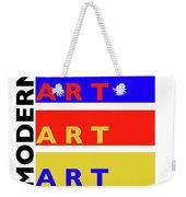 Primary Modern Weekender Tote Bag